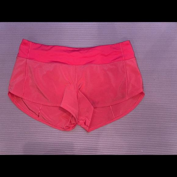 """Lulu lemon speed up shorts 2.5"""""""